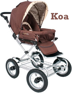 2008 - Queen B Carriage Stroller - Koa